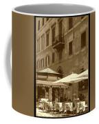 Sunny Italian Cafe - Sepia Coffee Mug by Carol Groenen
