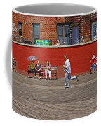 Sunny Morning On A Boardwalk In Brighton Beach  Coffee Mug