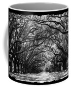 Sunny Southern Day - Black And White With Black Border Coffee Mug