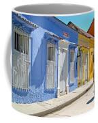 Sunny Street With Colored Houses - Cartagena-colombia Coffee Mug