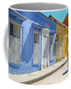 Sunny Street With Colored Houses - Cartagena-colombia Coffee Mug