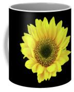 Sunny Sunflower Black Yellow Coffee Mug