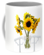 Sunny Vase Of Sunflowers Coffee Mug