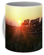 Sunrise And The Lifeguard Chairs  Coffee Mug