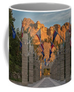 Sunrise At Mount Rushmore Promenade Coffee Mug