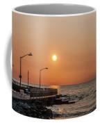 Sunrise At The Pier Coffee Mug