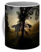 Sunrise Behind Elm Tree Coffee Mug