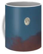 Sunrise Colored Clouds And A Setting Moon Coffee Mug