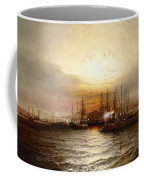 Sunrise From Chapman Dock And Old Brooklyn Navy Yard, East River, New York Coffee Mug