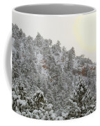 Sunrise In Snowstorm In The Pike National Forest Coffee Mug