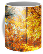 Sunrise Mist Through The Trees Coffee Mug