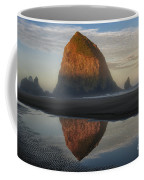 Sunrise On Haystack Rock - Oregon Coffee Mug by Sandra Bronstein