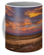 Sunrise On The Plains - Moon Over Prairie In Eastern Colorado Coffee Mug
