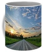 Sunrise On The Road Coffee Mug
