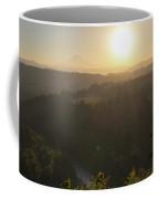 Sunrise Over Mount Hood And Sandy River Coffee Mug
