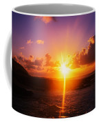 Sunrise Over Ocean, Sandy Beach Park Coffee Mug
