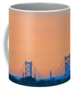 Sunrise Over The Ben Franklin Bridge Coffee Mug