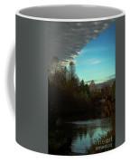 Curtain Over The Pond Coffee Mug
