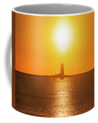 Sunrise Over Whaleback Light Portsmouth Nh New Hampshire Coffee Mug