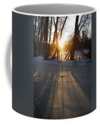 Sunrise Shadows On Ice Coffee Mug
