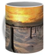 Sunrise Snow Fields Coffee Mug