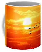 Sunrise / Sunset / Sandhill Cranes Coffee Mug