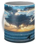 Sunrise Surfer Running Delray Beach Florida Coffee Mug