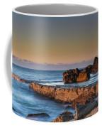 Sunrise, The Sea And Tessellated Rock Platform Coffee Mug