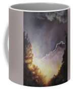Sunrise Through The Pines Coffee Mug by Diane Kraudelt