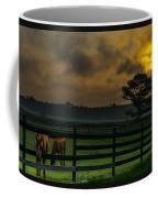 Sunrise With Horses Coffee Mug