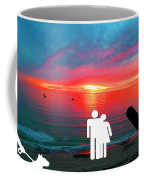 Sunrise With Shark Coffee Mug