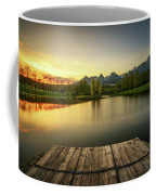 Sunset Above A Lake In High Tatra Mountains In Slovakia Coffee Mug