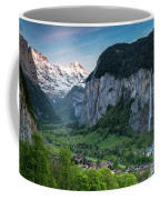 Sunset Above The Lauterbrunnen Valley Coffee Mug by James Udall