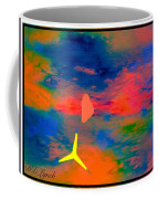 Sunset Abstract With Windmill Coffee Mug