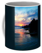 Sunset And Clouds Over Crescent Beach Coffee Mug