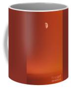 Sunset And Half Moon Coffee Mug