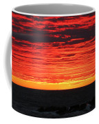 Sunset And Jetty Coffee Mug by William Selander