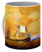 Sunset And Ships Coffee Mug