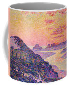 Sunset At Ambleteuse Pas-de-calais Coffee Mug by Theo van Rysselberghe