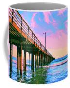 Sunset At Avila Beach Pier Coffee Mug