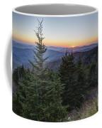 Sunset At Clingmans Dome Coffee Mug