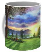 Sunset At Columbia River State Of Washington Coffee Mug