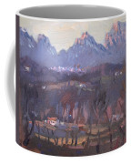 Sunset At Dolomites Belluno Coffee Mug