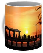 Sunset At Fort De Soto Fishing Pier Pinellas County Park St. Petersburg Florida Coffee Mug