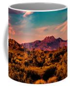 Sunset At Four Peaks Coffee Mug