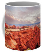 Sunset At Kodachrome Basin State Park Panorama Coffee Mug