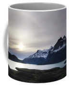 Sunset At Lago Pehoe  In The Cuenos Del Coffee Mug