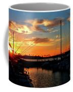 Sunset At Newport Beach Harbor Coffee Mug