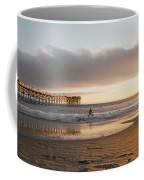 Sunset At Pacific Beach Pier - Crystal Pier - Mission Bay, San Diego, California Coffee Mug