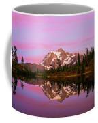 Sunset At Picture Lake Coffee Mug